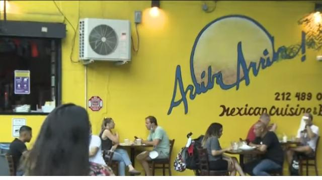 New York City restaurants struggling to adapt, stay afloat as coronavirus restrictions continue. [Image source/CBS New York YouTube video]