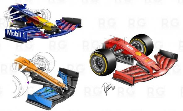 Confronto tra le soluzioni Red Bull, McLaren e Ferrari