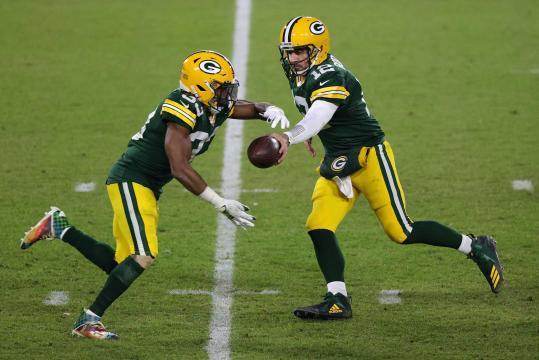 Aaron Jones fue la clave del triunfo de los Packers.