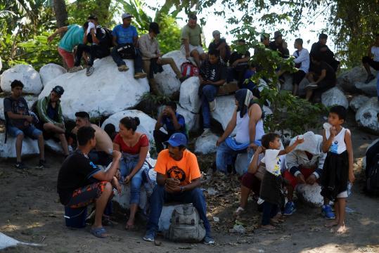 México ha recibido a numerosas caravana de migrantes. - voanoticias.com