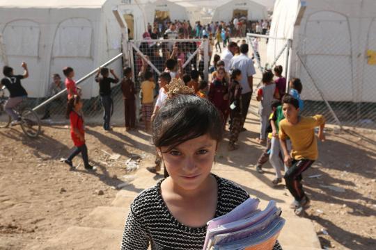 Immagine di un campo profughi yazida.