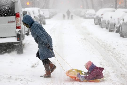 Inmensa nevada azota el estado de Nueva York.