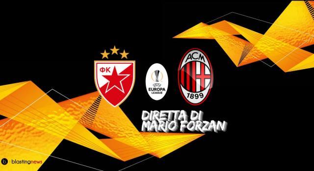 Sedicesimi di Europa League: Stella Rossa Belgrado - Milan alle ore 18.55