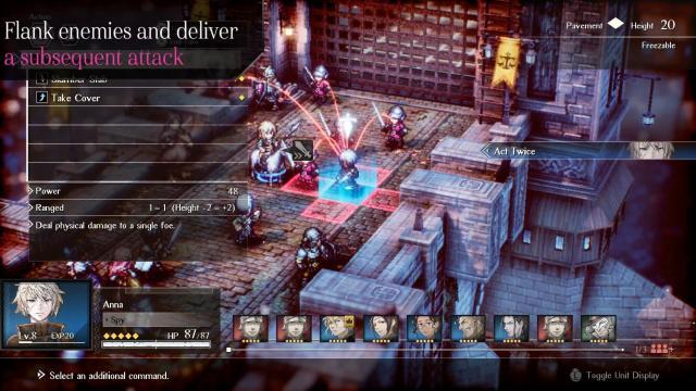 Project Triangle Strategy: circondare i nemici creerà attacchi in sequenza