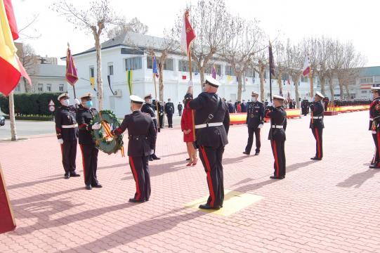 El homenaje a los caídos tuvo un especial recuerdo a las víctimas por COVID-19