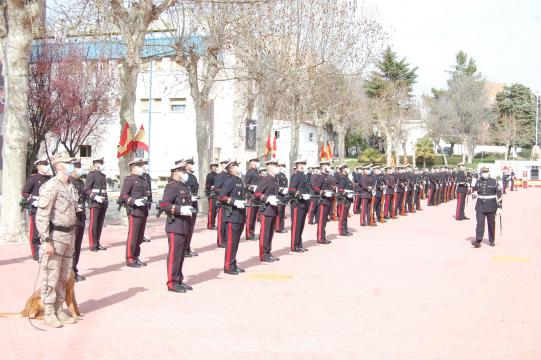 Formación de la AGRUMAD de Madrid en la celebración del aniversario de la Infantería de Marina