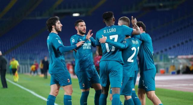 Il Milan supera la Roma allo stadio Olimpico - foto di acmilan.com