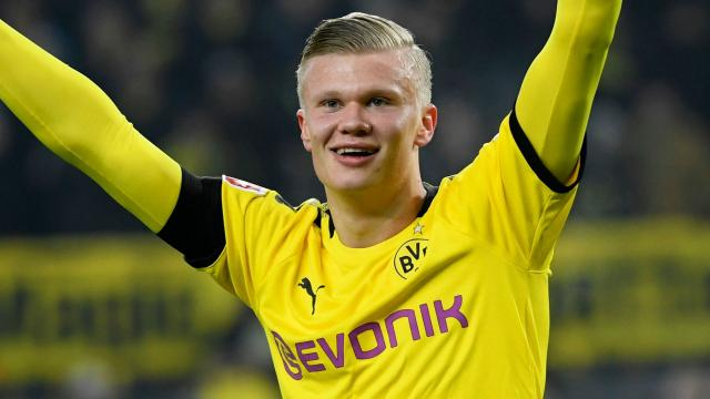 Haaland attaccante del Borussia Dortmund.