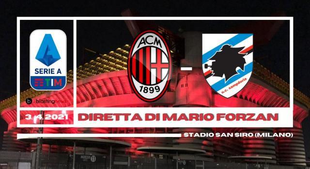Serie A: 29ma di campionato alle ore 12.30 a San Siro è Milan - Sampdoria