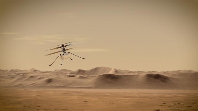 NASA Mars Ingenuity sorvolerà i cieli di Marte.