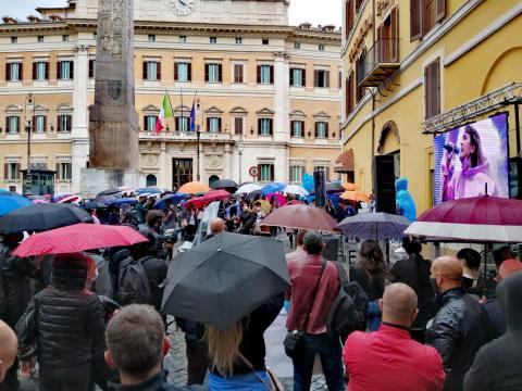 Manifestazione di Monte Citorio