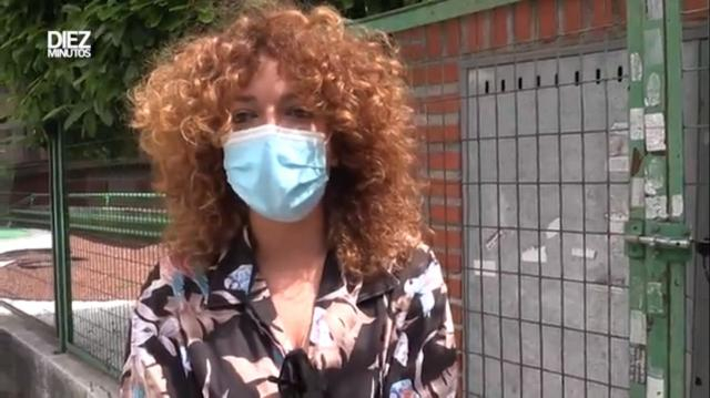 Sofía desmintió que su madre había sido dado de alta pues tuvo que ser nuevamente ingresada.(Fuente: captura de pantalla de diezminutos)