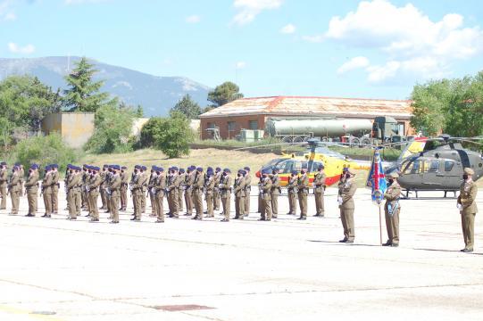 Formación de honores para recibir la nueva bandera (Foto: Antonio Rodríguez)