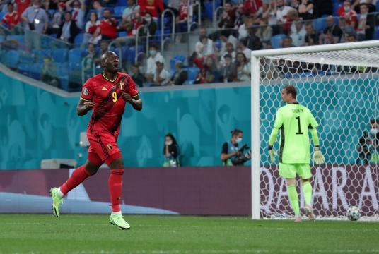 Lukaku metió dos goles en el triunfo de Bélgica (@EURO2020)