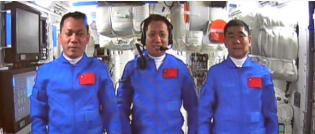 Shenzhou-12 astronauts enter space station core module of China. [Image source/New China TV YouTube video]
