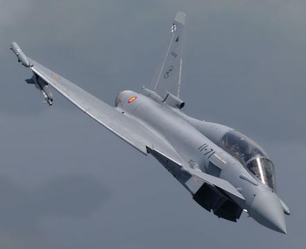 Eurofighter en una de las acciones de combate del Sirio (Foto: MDE.es)