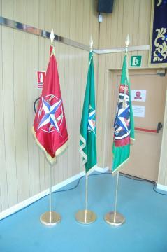 Estandartes oficiales de la alianza y entregados a España para su custodia (Foto: Antonio Rodríguez Jiménez)