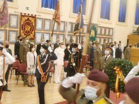 Homenaje en la Escuela de Guerra a militares y miembros de las FCSE caídos en la misión afgana (Foto: Antonio Rodríguez Jiménez)