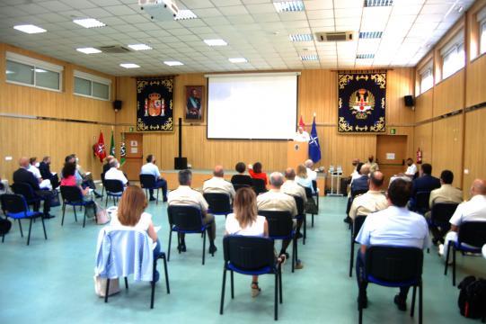 Salón del Mando de Operaciones donde se gloso la experiencia española en la OTAN (Foto: Antonio Rodríguez Jiménez)