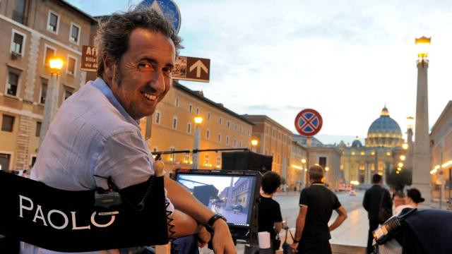 Paolo Sorrentino sul set di The Young Pope.