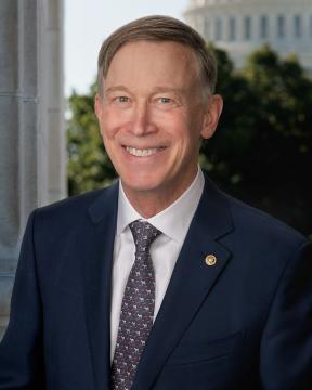 Colorado U.S. Senator John Hickenlooper in 2021 (Image source: Renee Bouchard/United States Senate Photographic Studio/Wikimedia Commons)