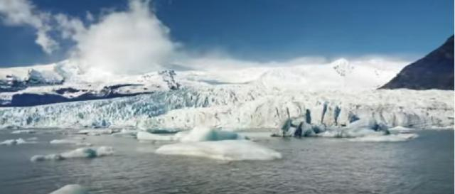 The Greenland ice sheet vanished. [Image source/SciTech Daily YouTube video]