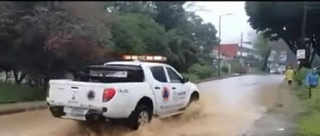 Floods in Mexico as Hurricane Grace lands for second time. [Image source/AFP News Agency YouTube video]