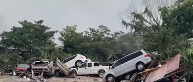Tropical storm Henri strikes New York. [Image source/9 New Australia YouTube video]