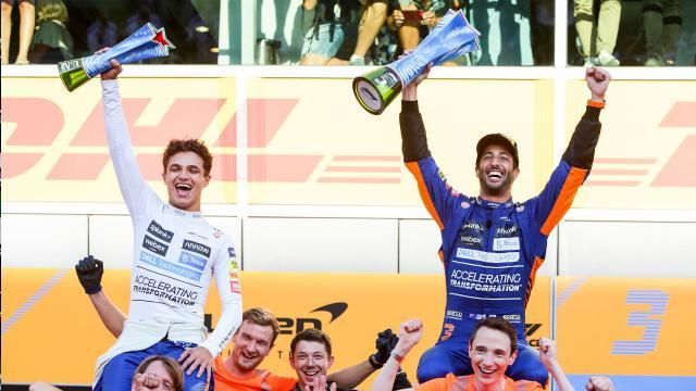 Il podio del Gran Premio di Monza.